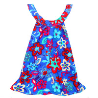 New style children's splicing bowknot sundress lace latest children birthday dress designs