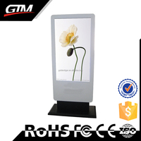 42 Inch Floor Stand White Media Player Usb Video Player Circuit For Advertising Monitor