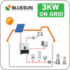 3kw on grid solar energy system roof project solar panel system home