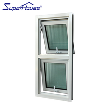 Australia AS2047 standard and CSA NFRC standard commercial double glass cheap aluminum awning window