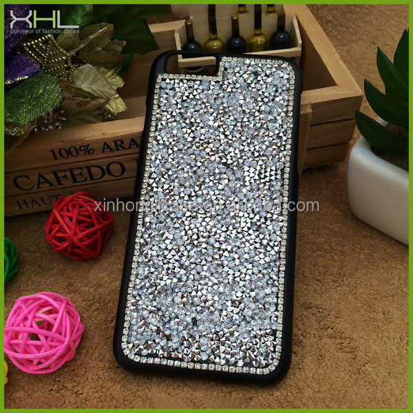 cases for iphone 6,mobile phone accessory,Crystal diamond hard pc back case cover for iphone 6