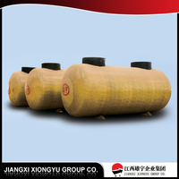 High strength and high capacity steel-fiberglass steel SF double 60000 liter oil tank ,fiberglass oil tank truck