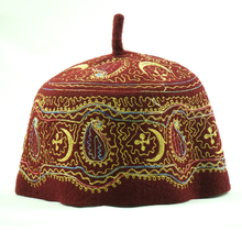 High qulaity cheap hat customized embroidery100% Wool Muslim cap