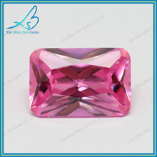 Sparkling rectangle cut pink cubic zirconia stones manufacturer in Wuzhou