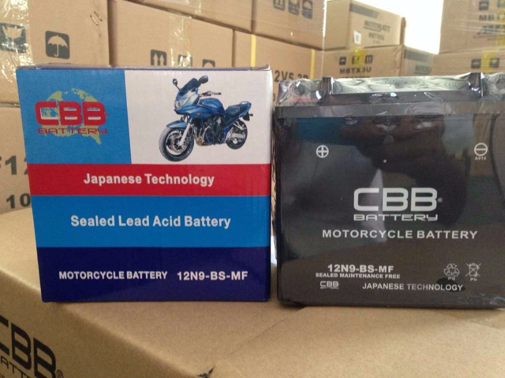 cheap price 12v 9ah Maintenance Free best motorcycle battery CBB brand