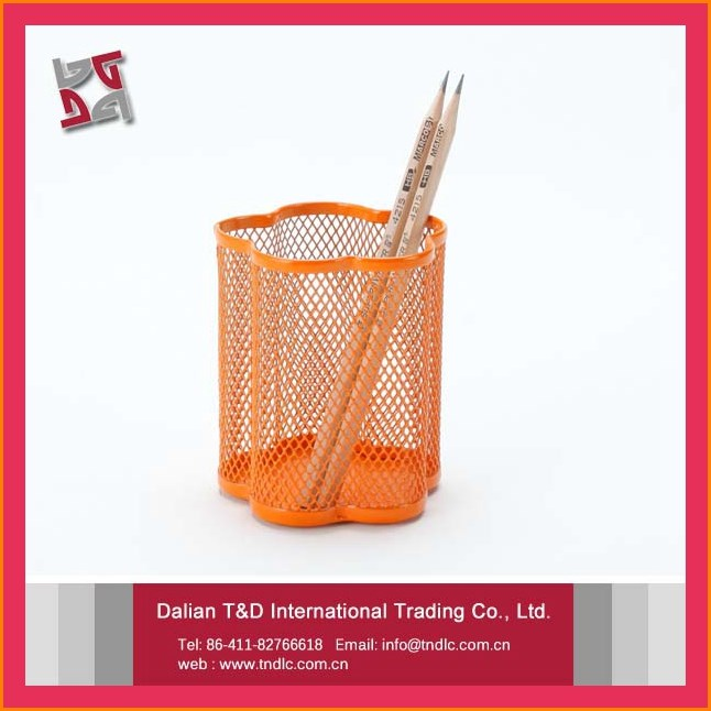 Wholesale Hot Selling Staff And Student Metal Mesh Pencil Holder