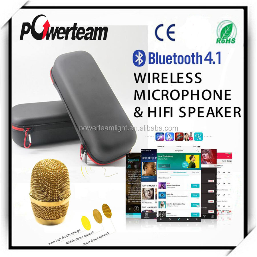 karaoke player Micgeek Q9 karaoke Bluetooth microphone with speaker
