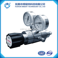 BPF-J-SS Wholesale Price Stainless Steel 316L Hydrogen Gas Pressure Regulator High Pressure Gas Cylinder Regulator