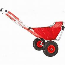 Red Folding Beach Fishing Chair & Cart Folding Portable Canopy Beach Chair with Wheel