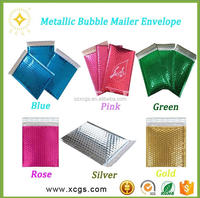 Customized Color Bubble Mailer/ Metallic printed colored protective padded envelopes