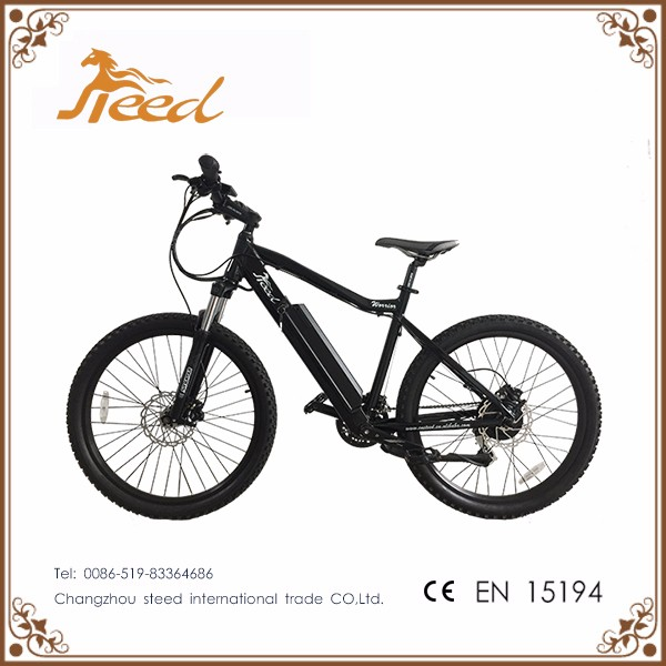 Adult full suspension electric mountain bike with hub motor from china