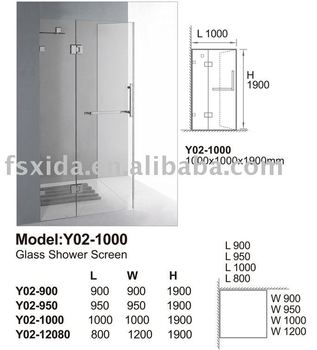 glass Shower room with australia standard
