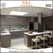Guangzhou white lacquer high gloss ready made Mdf modular cheap china simple design modern kitchen cabinet