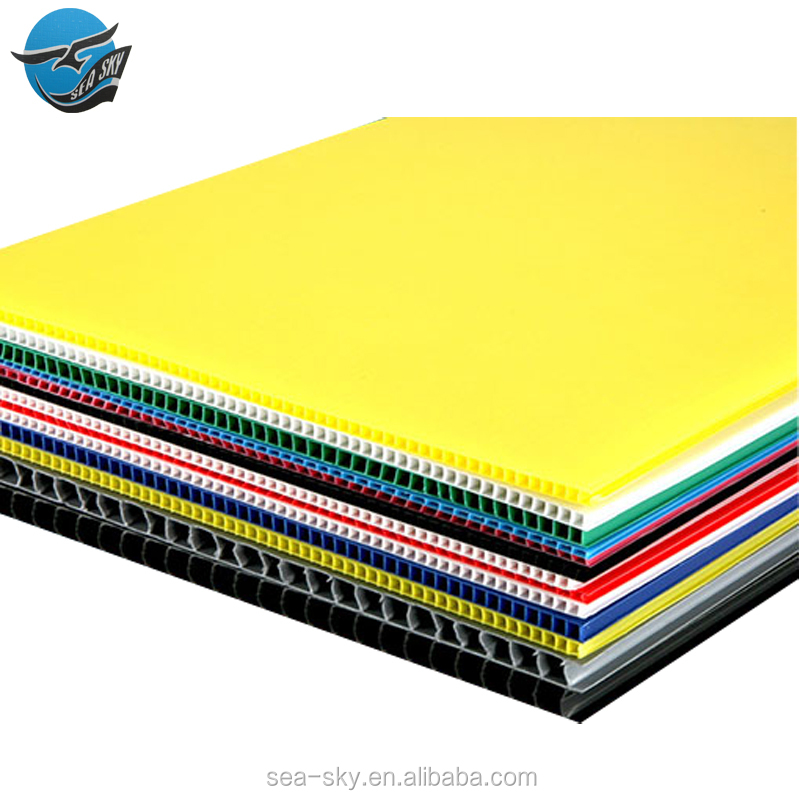 Suppliers2mm 3mm 4mm different thickness pp hollow board,correx sheet,pp material sheet