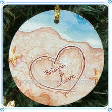 Fashionable Round Glass Beach Wedding Gifts Ornaments