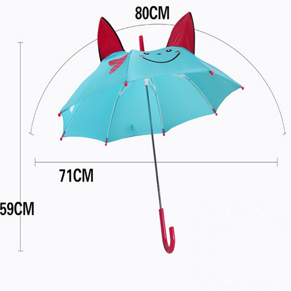 Personalized Performance Dance Kids Umbrella with DIY Cute Baby Cartoon