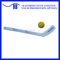 Cheap logo printed promotional Plastic Mini hockey stick for kid