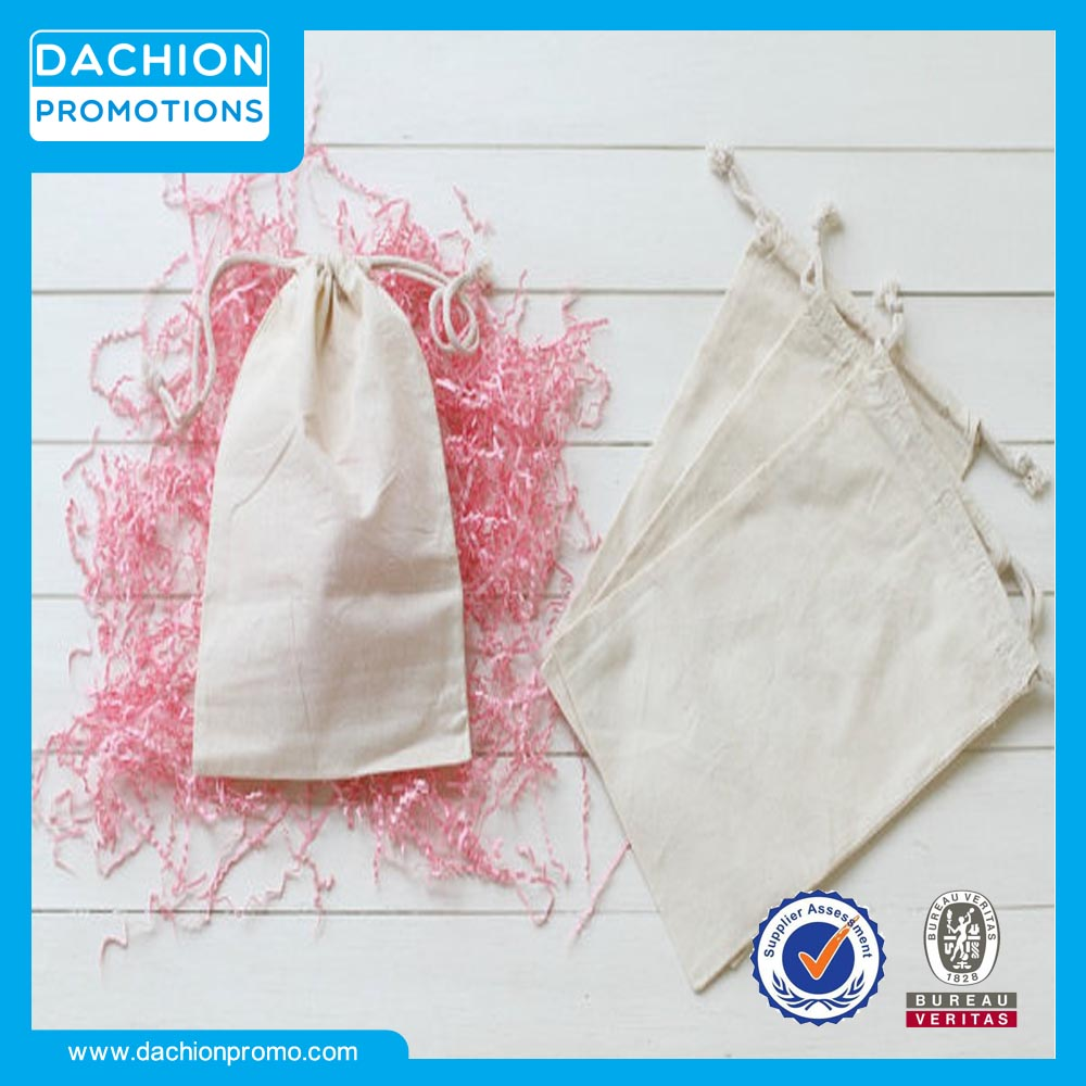 Small Cotton Bags with Drawstrings