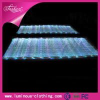 LED lighting fiber optical luminous fabric cloth wholesale jute fabric for sofa