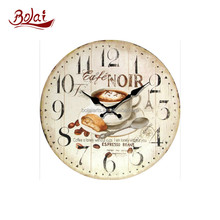 Breakfast coffee light yellow dial mdf material antique chinese clocks