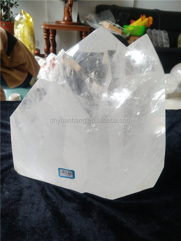 natural rock clear quartz crystal mountain heads points crystal big healing wands