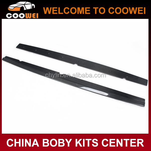 E Style R20 Side Skirts MK6 Carbon Fiber Lip Kits For Volkswagen Golf VI 6 R20 Bumper