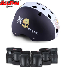 colorful extreme bicycling sport helmet elbow knee wrist pads inline roller skate protective gear
