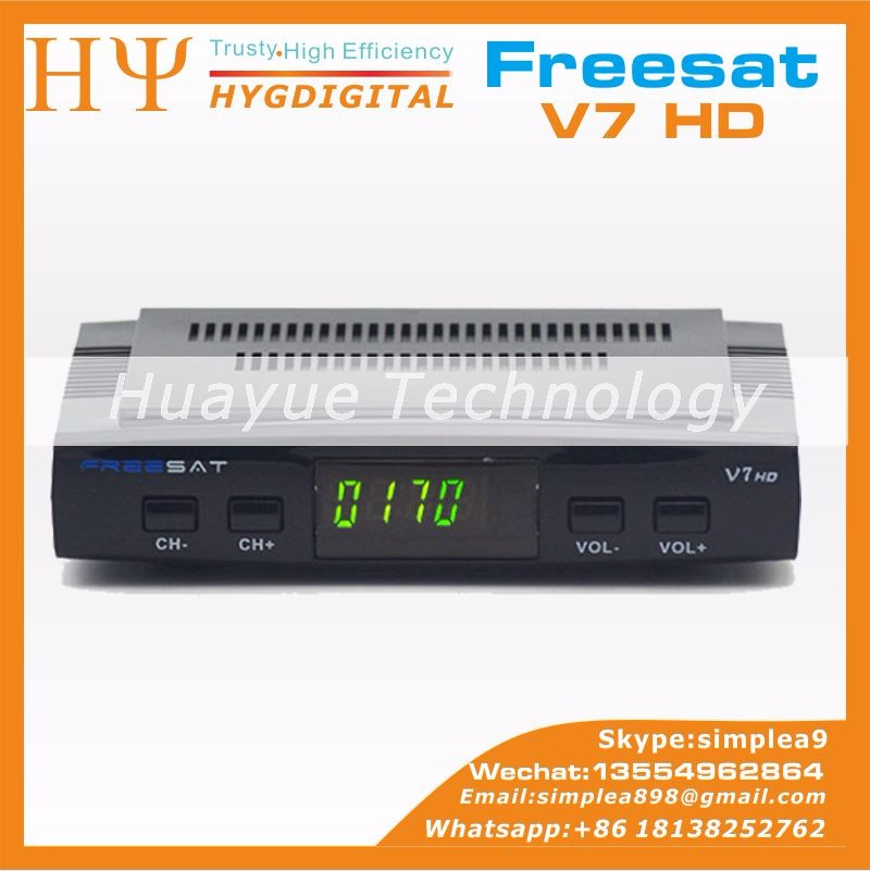 Gốc Freesat V7 HD DVB-S2 thống satellite receiver Freesat V7 BISS Key Vá CCCAM Powervu Youtube Usb wifi Freesat V7