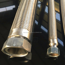Stainless steel corrugated flexible metallic hose, stainless steel flexible braided metal hose