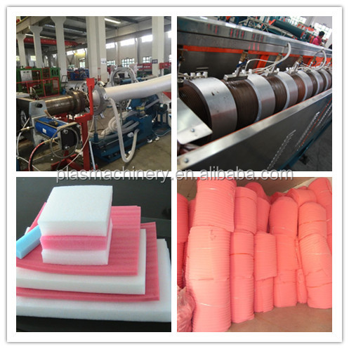 Full Production Line Expanded PE Foam Mattress Sheet Max 150mm Thickness Making Machinery