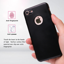 High quality luxury moblie phone cover carbon fiber phone case for iphone 7