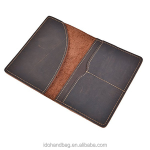 Amazon Hot Sale Crazy Horse Leather Passport Holder Travel Document with Card holder