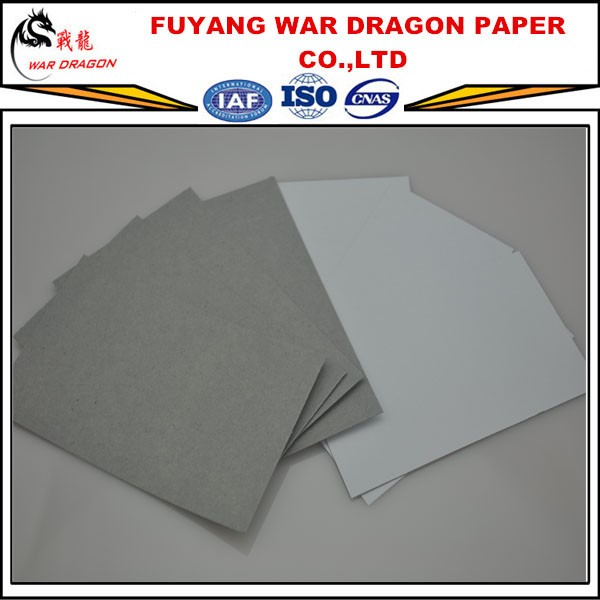 Fuyang Coated Duplex Board with Grey & White Back Paper