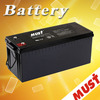 MUST 12V 200Ah Sealed Lead ACID Battery Gel AGM 12V 200Ah Battery