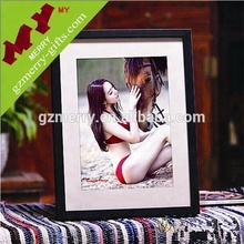 Promotional gifts lovely beautiful wooden black photo frame for home decoration
