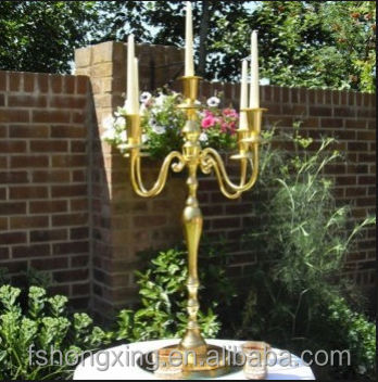 new design gold metal wedding table candleabra wedding centerpiece