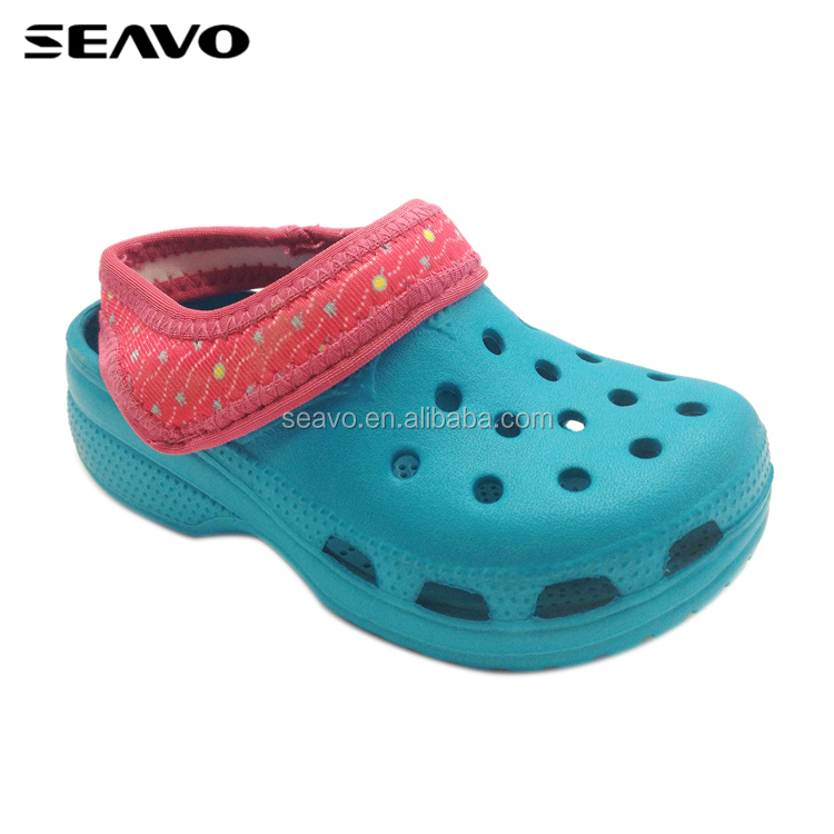 SEAVO SS17 latest design EVA sandal slipper shoes new unisex kids garden clogs China factory
