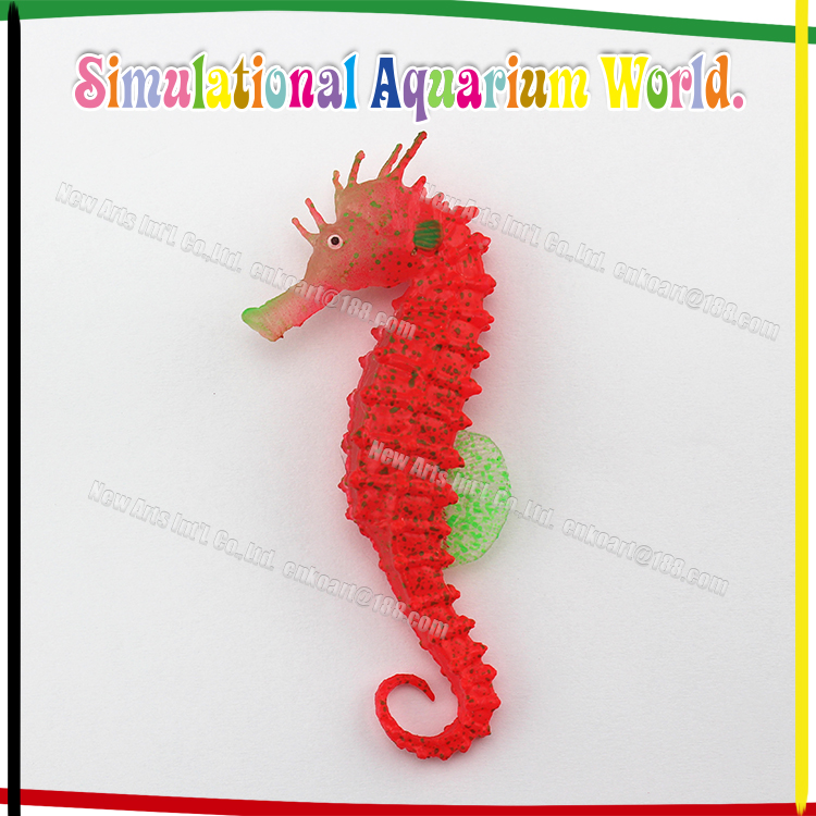 Aquarium Fluorescent Sea Horse Wholesale Aquarium Decoration Hippocampus Fish Tank Landscape Accessories