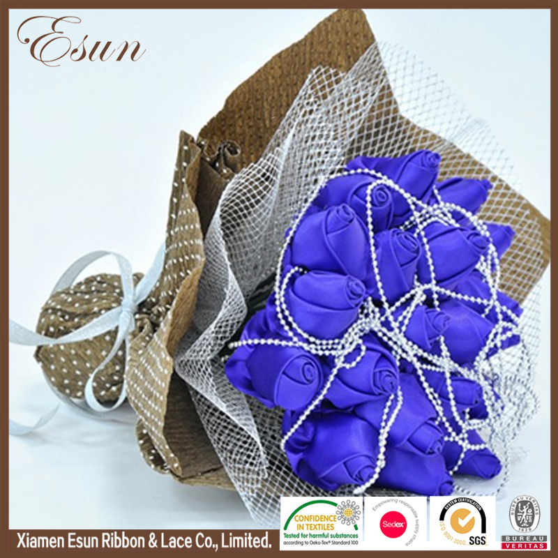 Wholesale low price high quality satin ribbon flowers