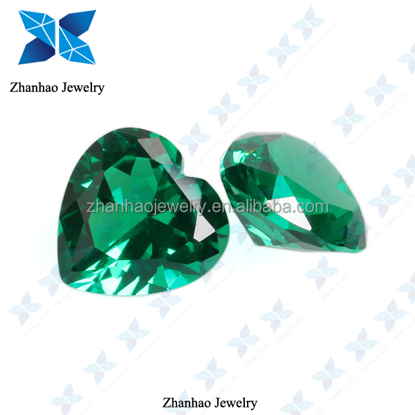AAA Heart shape Emerald Green Spinel Stone for Jewelry Making