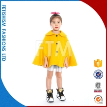 Hot sale kids fashion new design girls long coat