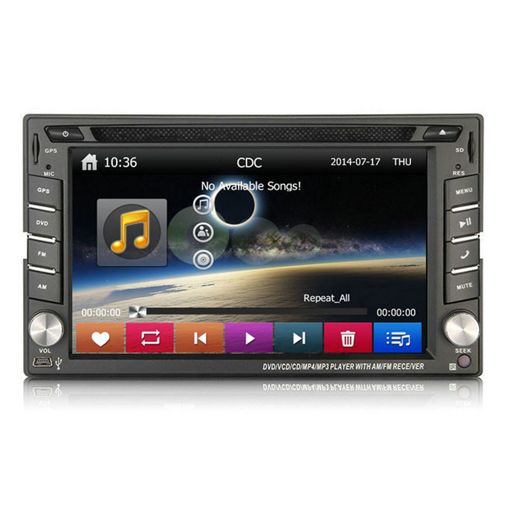 Autostereo Car DVD GPS Navigator Touch Screen TV Built-in GPS CD Player Radio Tuner MP3 MP4 Players