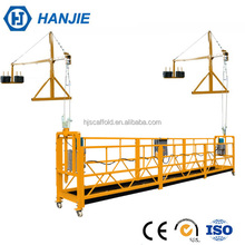 ZLP630 electric hanging rope construction gondola suspended access equipment