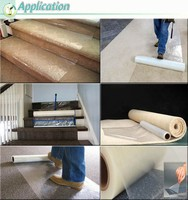 construction floor and stair protective pe film clear adhesive film