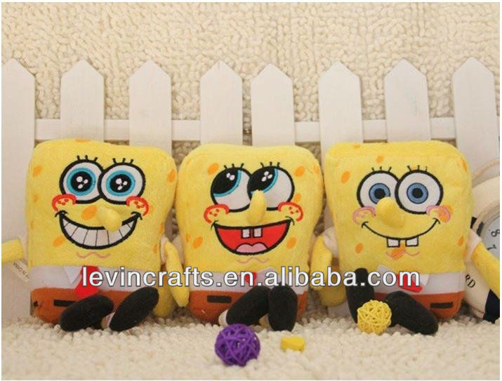 yellow plush sponge-bob stuffed toys