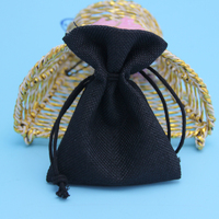 wholesale small jute bags drawstring with logo printed
