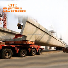 Pakistan Lahore girder shift trolley steering turning trailer/twin axle heavy duty cargo and machine transport lowbed semi trail