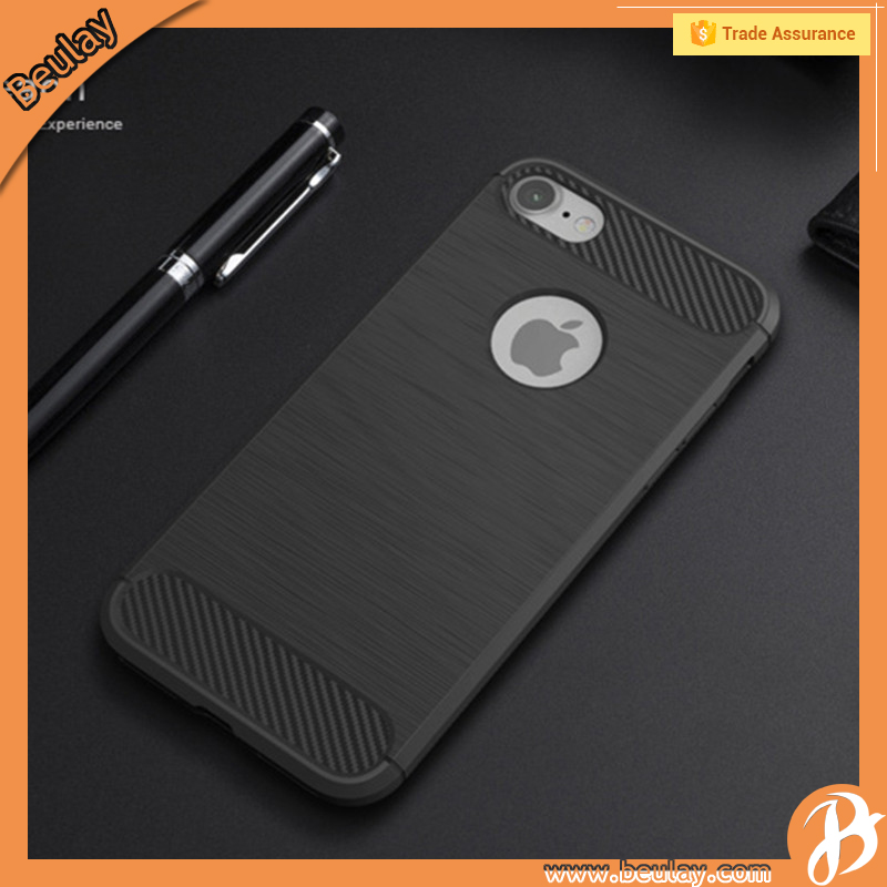 Mobile Phone TPU Shockproof Black Man Protective Case For Iphone7