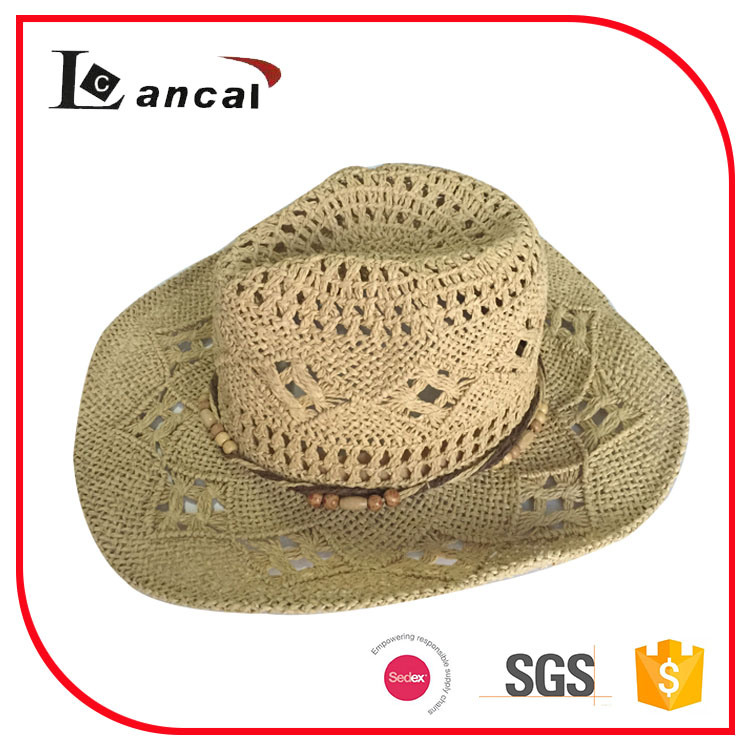 natural fedora straw paper hat