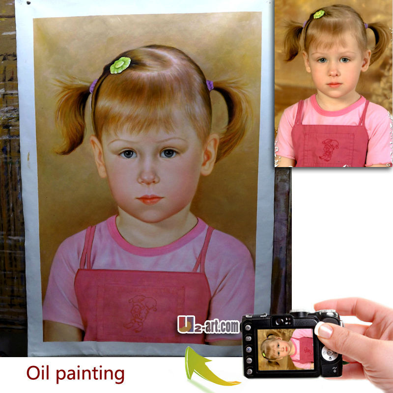 Custom baby children portrait oil painting
